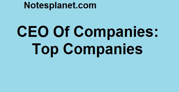 CEO Of Companies