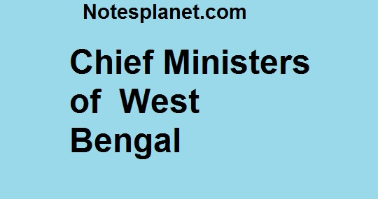 Chief Ministers