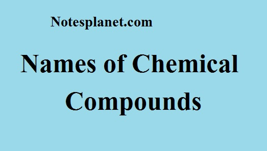 Names of Chemical Compounds