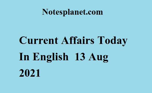Current Affairs Today In English