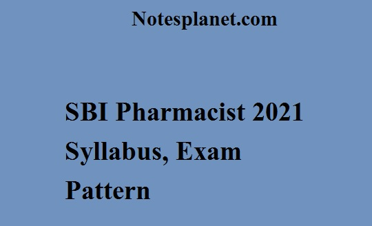 SBI Pharmacist 2021